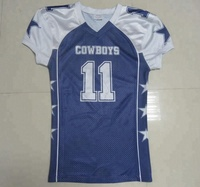 sublimated cowboys jersey custom american football jersey
