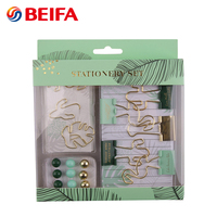 Beifa Brand RST80025 Multi Function Round Push Pin Paper Clip Binder Clip Notebook Kids Stationery Gift Set