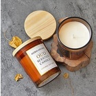 Aromatherapy essential oil soy candle purifying air glass gift box bedroom smokeless romantic aroma