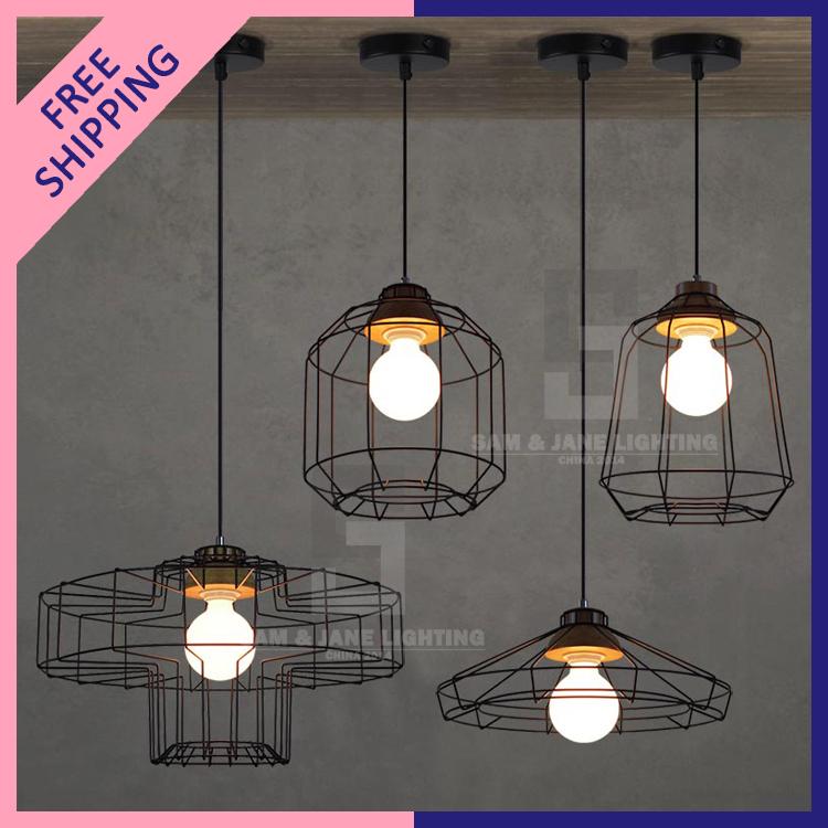 groupe vintage pendentif luminaire clairage industriel rouill e pays r tro salle manger fer. Black Bedroom Furniture Sets. Home Design Ideas