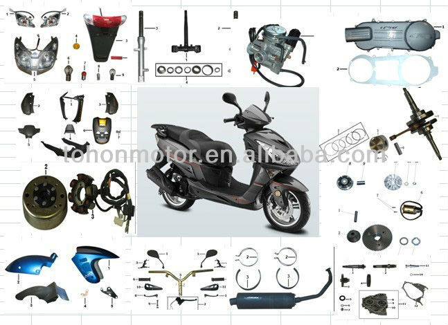 Scooter Parts for Italika GS150, OEM Quality
