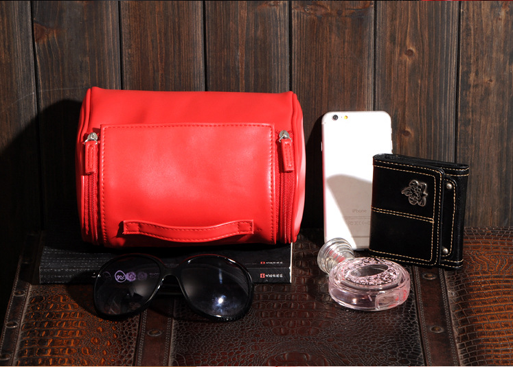 Women pu leather bags for cosmetics
