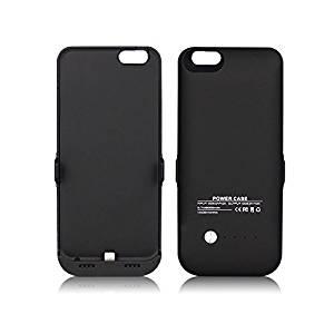 FILIWI Black 6000mAh iPhone 6S Battery Case -Trianium Ultra Slim External Protective Portable Charger Battery Case Power Pack for iPhone 6S 4.7inches (Black B)