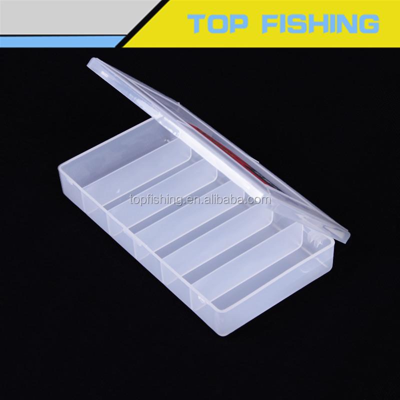 10 compartiments portable en plastique transparent pêche leurre boîte de rangement Case #BU