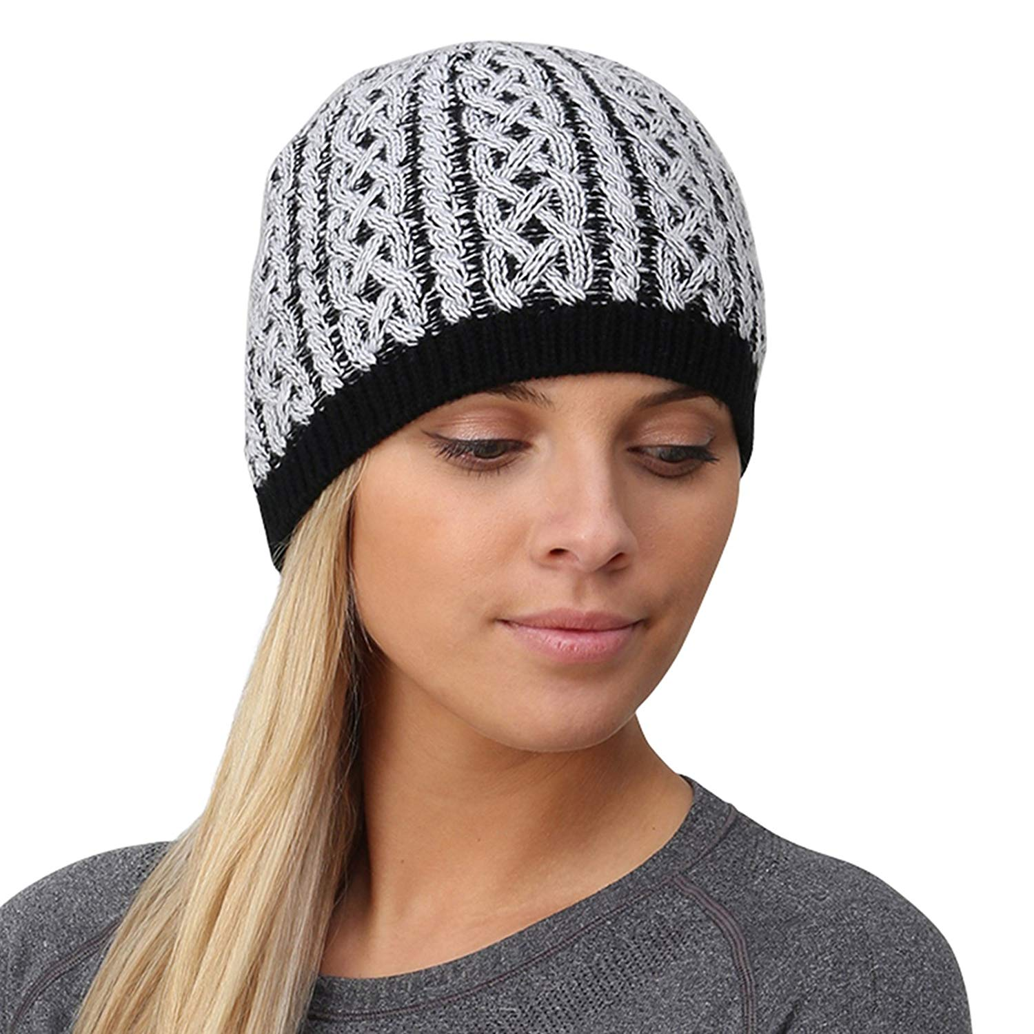 8fd1f495295 Get Quotations · TrailHeads Cable Knit Women's Winter Beanie - 2 Colors