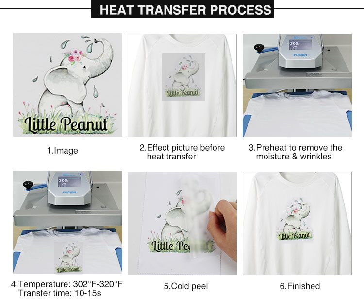 Qingyi wholesale custom plastisol pre printed heat transfer sticker designs for t-shirts