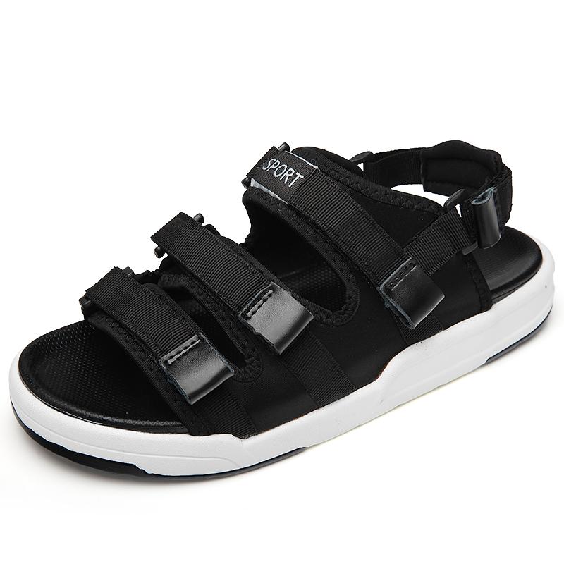 Sandali sportivi Nero Tela Superiore Scarpe Da Uomo Casual
