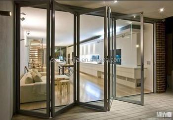 Tempered glass sliding door garden folding grill door for Sliding glass doors garden