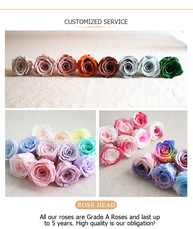 Wholesale forever roses preserved flower with the factory price