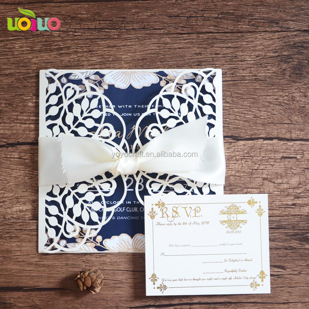 Luxury Personalized Laser Cut Wedding Invitation, Luxury ...