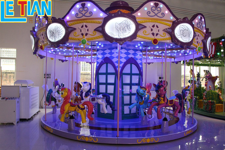 Hot Sale Large Playground Equipment 12 seats Kids Carousel Horse Ride