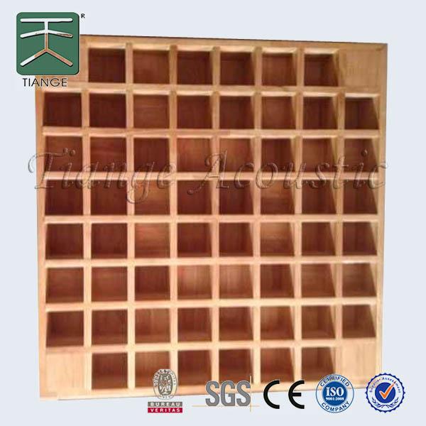 Studio interieur decoratieve houten akoestische diffuser paneel akoestische panelen product id - Studio verwijderbare partitie ...
