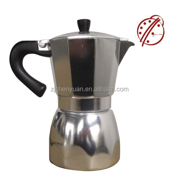 High Quality Aluminum Moka Coffee Maker Espresso Coffee Pot/coffee plunger