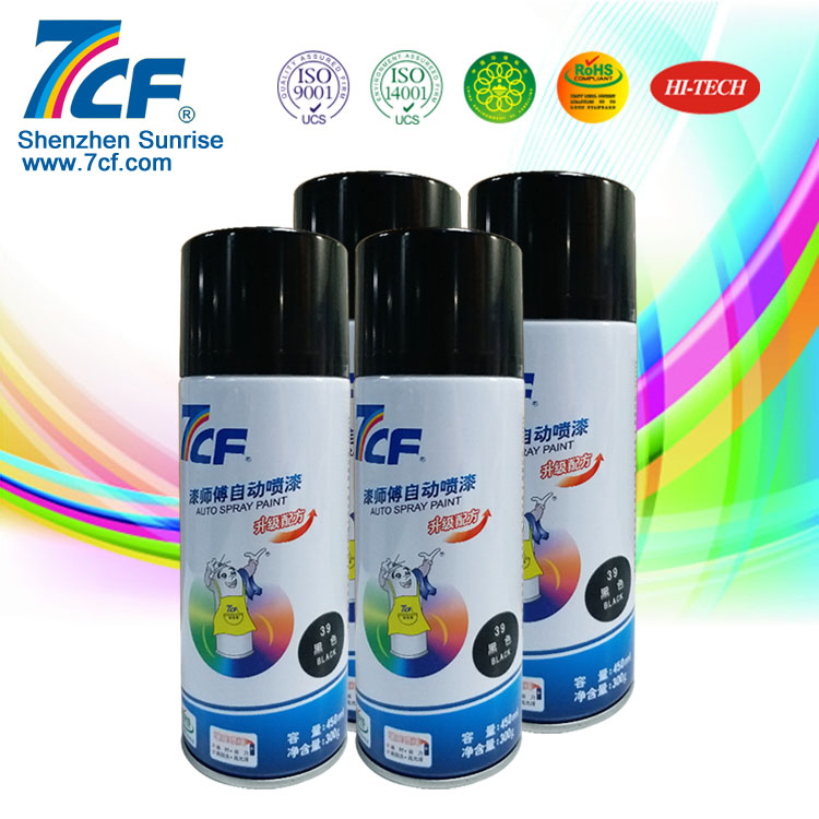 Patent Shenzhen Sunrise Famous Brand 7CF Acrylic Car Spray Paint