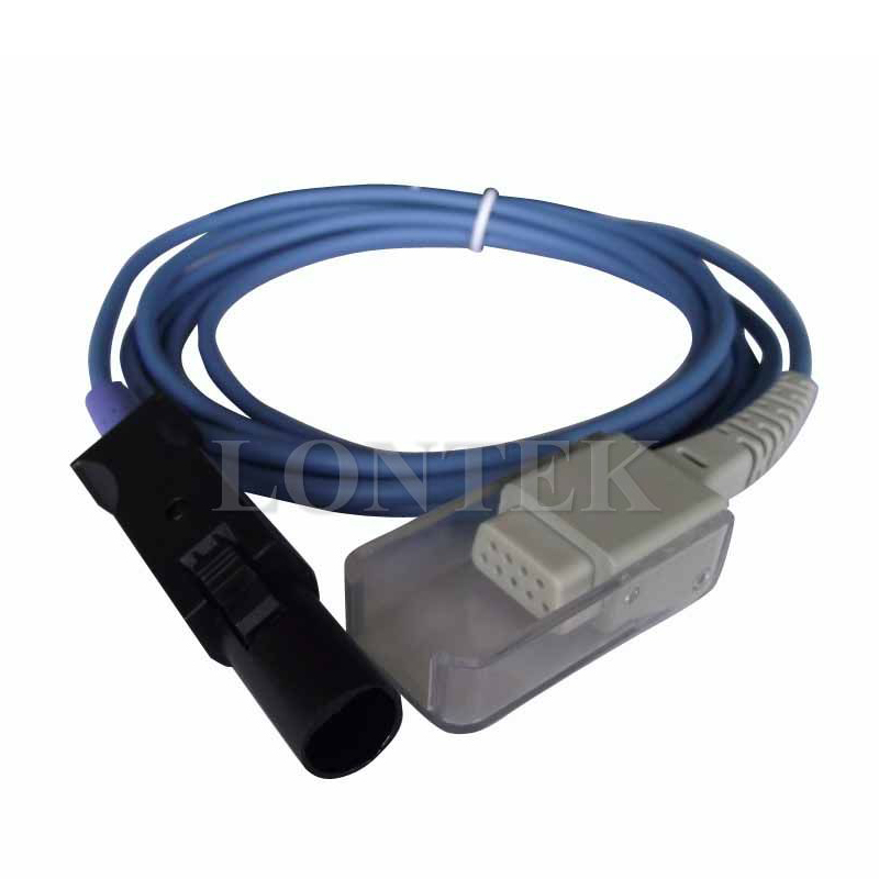 Datex-Ohmeda Spo2 Extention cable,8ft,Hyc7P>DB9F,TPU materia,CE/ISO13485 approved