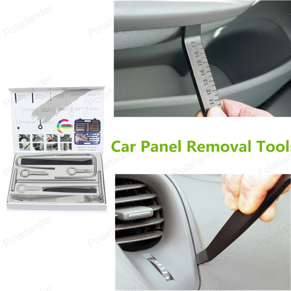 Бесплатная доставка 17 шт./компл. высокое качество автомобилей панель удаления инструмента-автомобилей ремонт комплект инструментов