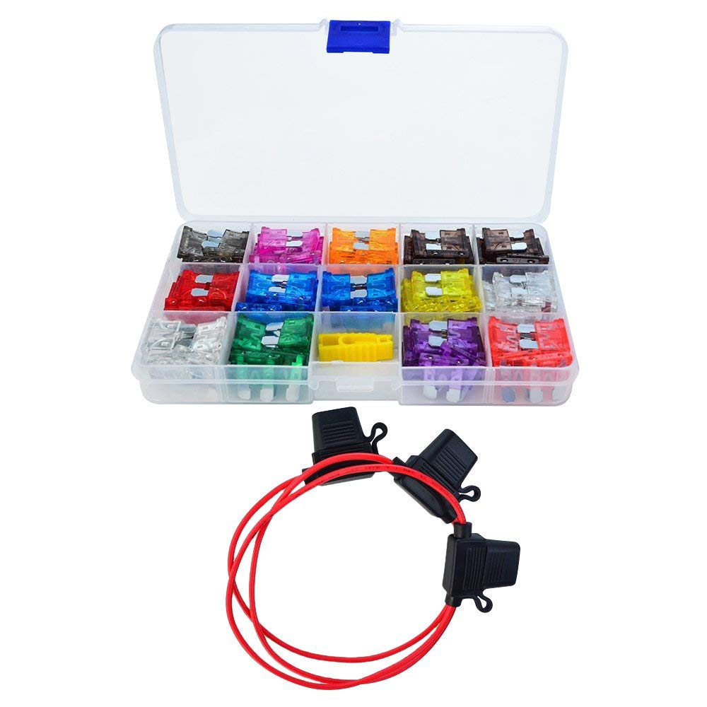 Auto Standard Blade Type ATC Fuse Inline 16 AWG Gauge Holder F Car Boat truck