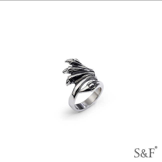 stanless steel jewelry 39020 women spikes stainless steel ring