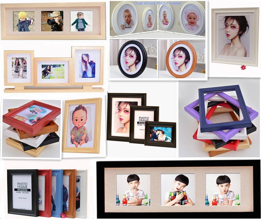 Handmade Photo Collage Frame / Multi Windows Photo Frames Wood ...