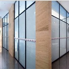 Factory price aluminium frame wall glass partitions decorative wall partition