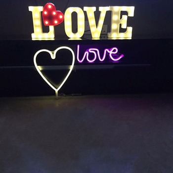 Custom wedding giant love letters light bulb letter sign led marquee letters