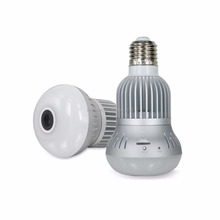WiFi Panoramic Shot Camera LED Bulb for Security and Protection