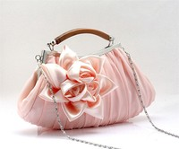 New Fashion Charmming Ladies Bridal Satin Handle Clutch Evening Purse Bags