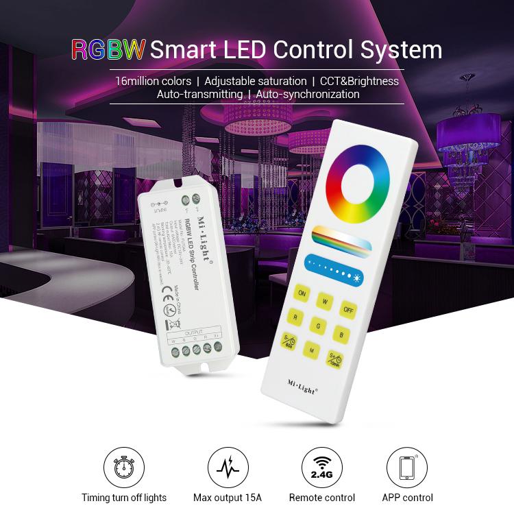 Mi light FUT044A RGBW controller smart LED Remote Control System 15A Led Controller dimmer For Led strip light