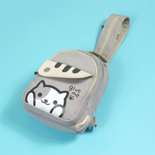 Ecoparty Free Shipping Cartoon Mini Chest Bag Rucksack Cat Backyard Print Girls Lolita Shoulder Bag Adorable Student Backpack