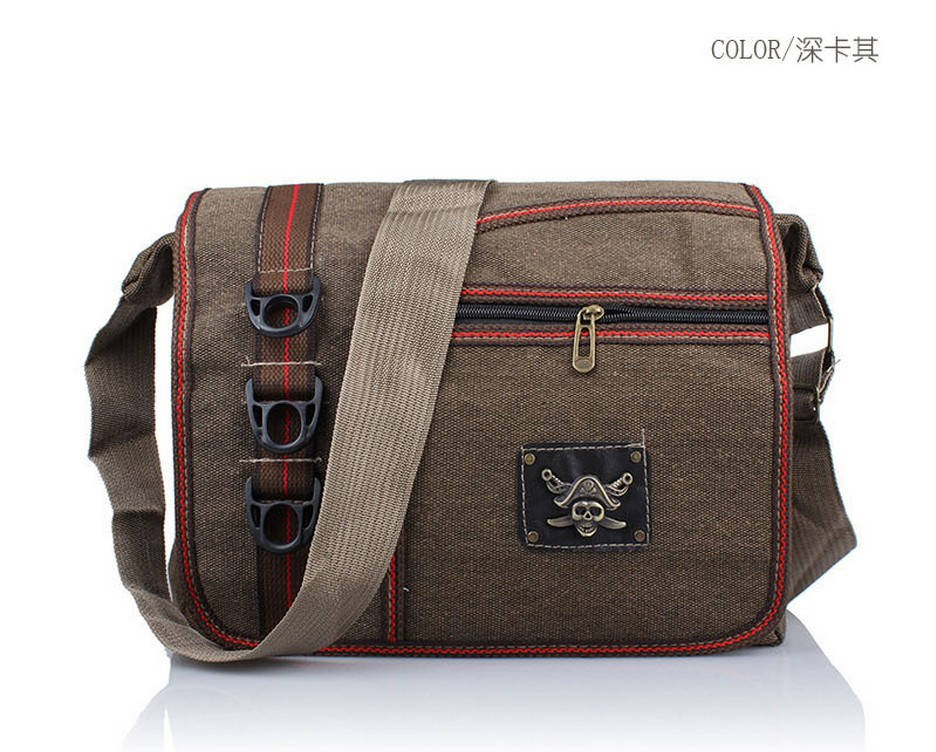 Trend vintage Canvas + skull 2013 Fashion men Messenger Bag,men shoulder bag,men canvas bag,men laptop bag free shipping