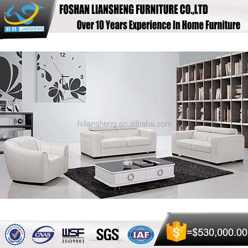 Großhandel Italienische Echtes Leder Wohnzimmer Möbel Sofa