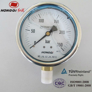 YTN100 glycerin oil liquid filled pressure gauge