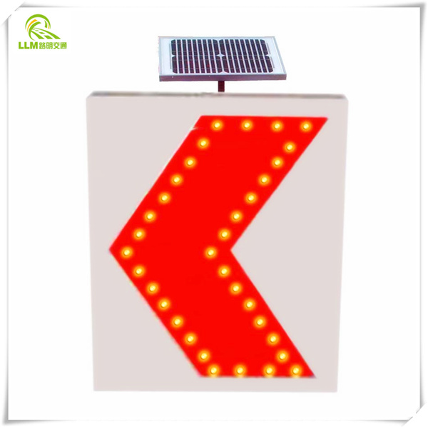 Free shipping waterproof aluminum LED flashing solar road safety traffic sign