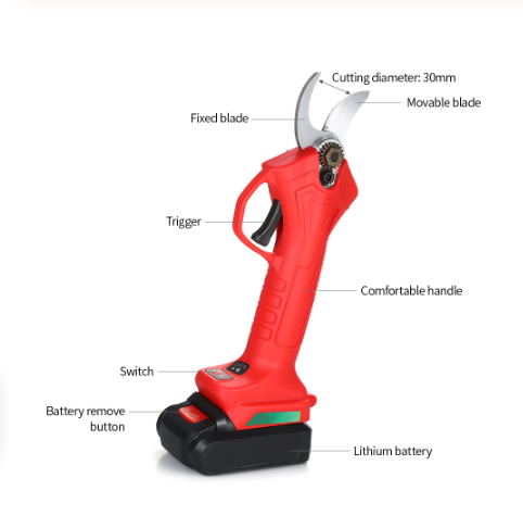 Power 3.6V Li-ion Battery Cordless Secateur Branch Cutter Electric Pruning Tool
