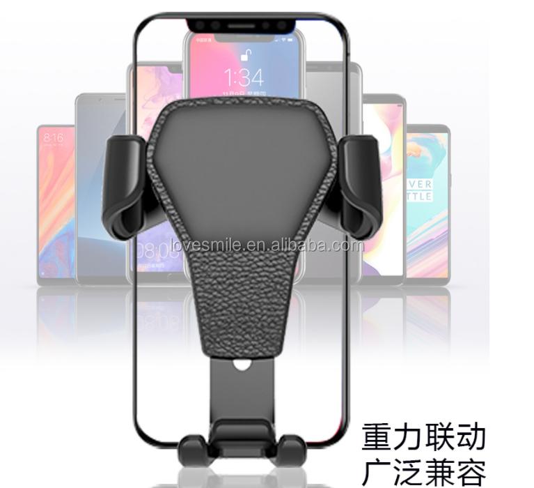 wholesale Nice Quality Gravity Car Phone Holder Smartphone Grip Air Vent Mount Mobile Phone Holder Car