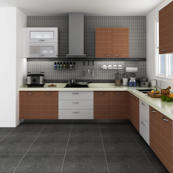 Simple Kitchen Designs: Modular Kenya Project Simple L-shaped Small Kitchen