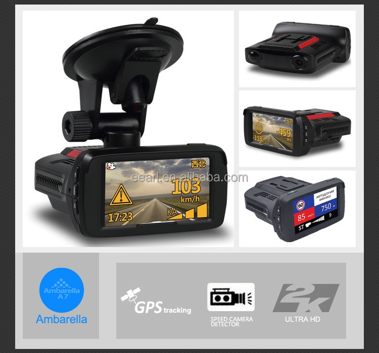 2K FHD1296P In Car Radar Detection Device With GPS Dashboard Camera Car Dvr Support Motion Detection
