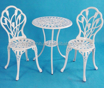 Tulip Design Patio Set Cast Aluminum Garden Furniture White Product On Alibaba