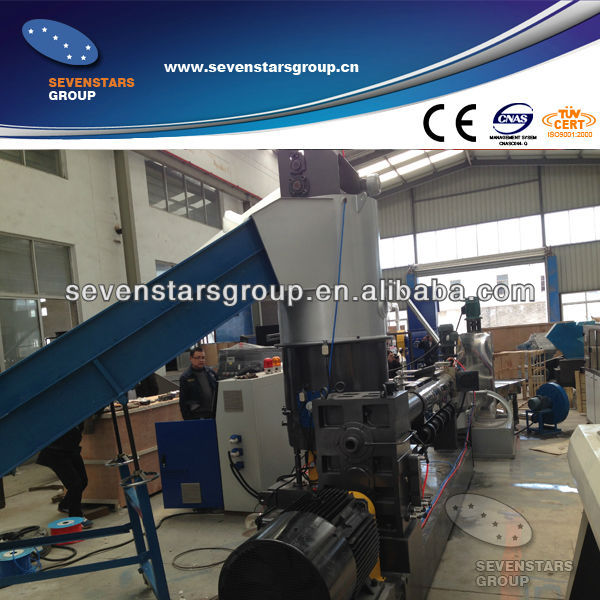competitive price of plastic granulating plant with compactor