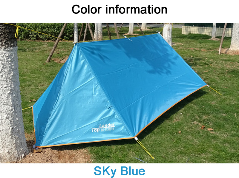 Diy Waterproof Camping Tent Breathable Ultralight Mosquito Net Tent A Tower Tarp Shelter Ultralight Hiking Single Tents Rescue Shelters Local Pet