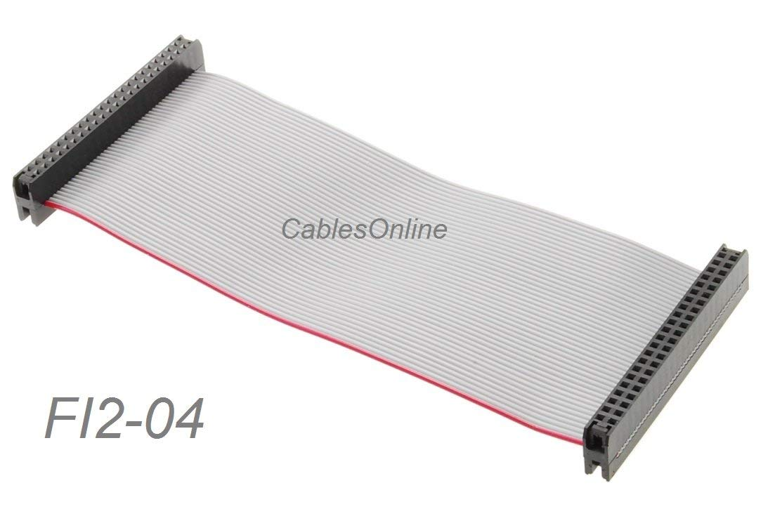 """CablesOnline 4-inch 44-Pin Female/Female 2.0mm Pitch Laptop 2.5"""" Hard Drive Ribbon Cable, FI2-04"""
