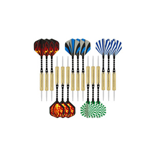 Brass plated Steel Tip Darts With Nice Flight Flights Throwing Toy