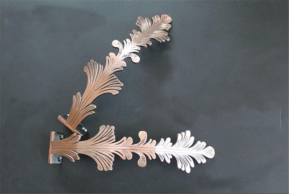 2 Pieces Curtain Pteris Decorative Tiebacks/ wall hook / European curtain buckle /Buckles/Holdbacks (A, Red Bronze)