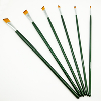 Art Supplier Watercolor Brush Pen, 6Pcs Artist Quality Import Nylon Watercolor and Oil Painting Art Brush
