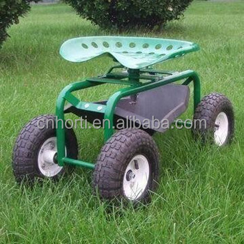 Garden Seat Cart/ Garden Scooter With Four Wheels
