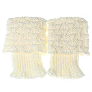 Socks - TOOGOO(R)Women Crochet Knitted Trim Boot Cuffs Toppers Liner Leg Warmer Socks Color:White