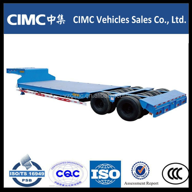 China gold supplier 100 ton low loader trailers/2 lines 4 axles lowbed trailer for sale