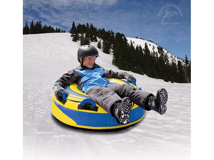 Hard Bottom Commercial Heavy-Duty PVC Inflatable Snow Tube for Sledding