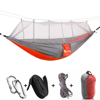 New Double Camping Indoor Travel Hammock With Mosquito Net