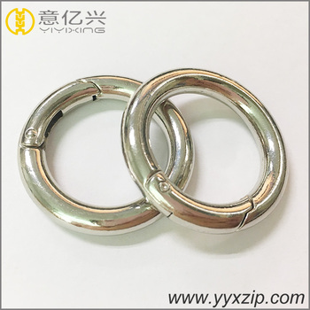 78f3b9f0582c Plata pulida 6mm espesor interior 25mm metal de fácil apertura primavera  puerta o anillo